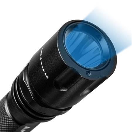 Bateryjna latarka taktyczna Mactronic DEFENDER RGB, 400lm