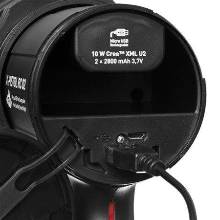 Latarka szperacz Mactronic X-PISTOL RC 02 USB, 600 lm