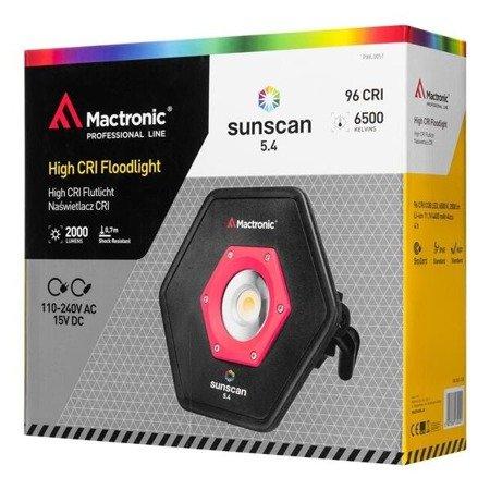 Naświetlacz z wysokim CRI, światło ciepłe - zimne, SUNSCAN 5.4, 2000 lm